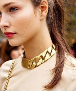 Foreign trade jewelry wholesale Restore ancient ways punk exaggerated weight metal thick chain necklace CCB short neck chain(China (Mainland))