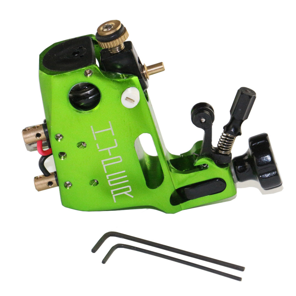 High Quality Stigma Hyper V3 Tattoo Machine Green Color Swiss Motor Rotary Gun For Shader And Liner Free Shipping TM-570B(China (Mainland))