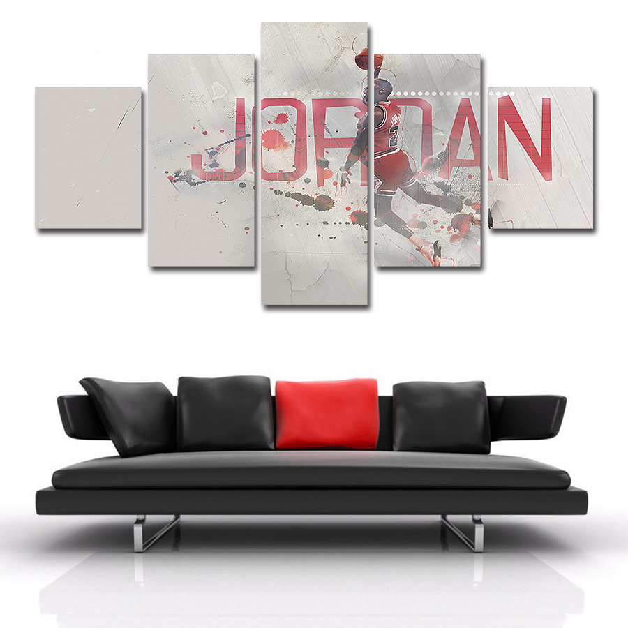 No Frame 5 Pcs Jordan Painting Canvas Wall Art Picture Home Decoration Livin