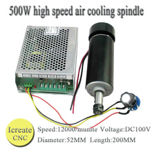Buy Free 0.5kw Air cooled spindle ER11 chuck CNC 500W Spindle Motor +Power Supply speed governor DIY CNC for $85.96 in AliExpress store