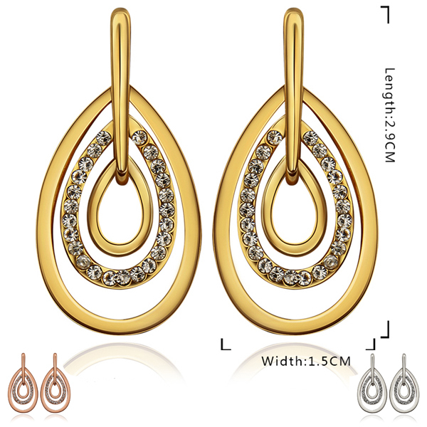 Rock crystal party jewelry pierced stud earrings young teen wild style fashion 2013 free shipping(China (Mainland))