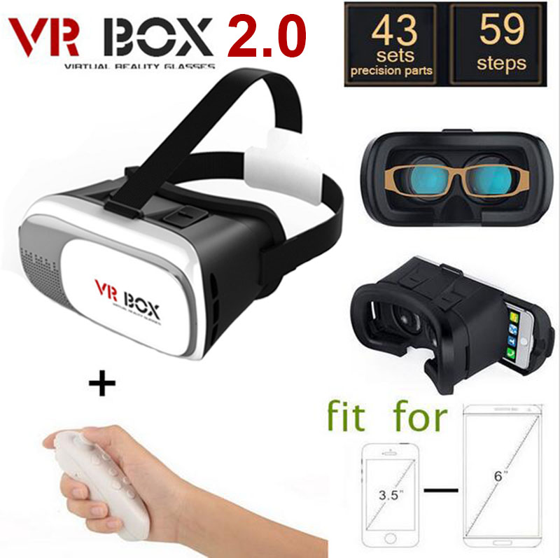 2016 New 3D VR All in one Helmet Virtual Reality Goggles Ram 1G Rom 8G Support WIFI TF Bluetooth Card 5.5 inch IPS Display