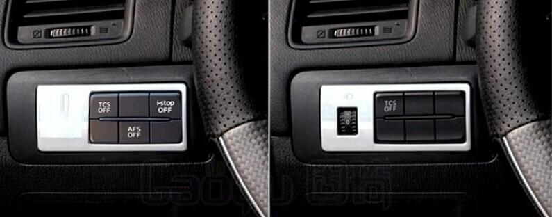 ABS Chrome fog lamp switch trim interior frame decoration auto parts for Mazda CX 5 CX5