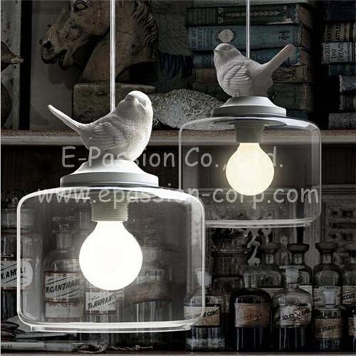 Light bulb pendant lights resin glass restaurant pendant light single pendant lighting vintage Loft lamp american style(China (Mainland))