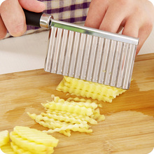 potato wavy edged knife stainless steel plastic handle kitchen gadget vegetable fruit cutting peeler cooking tools accessories