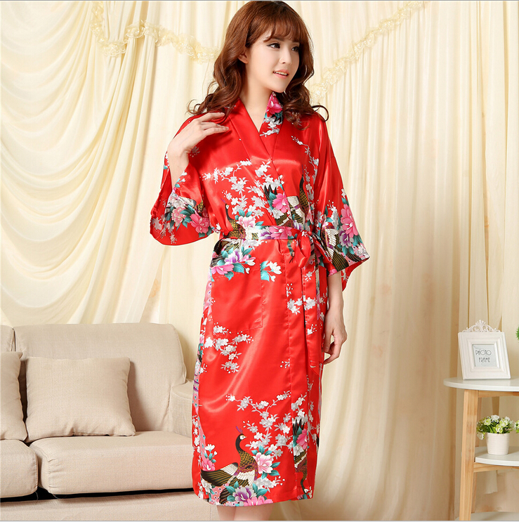 buy 2015 silk kimono robes for women. Black Bedroom Furniture Sets. Home Design Ideas