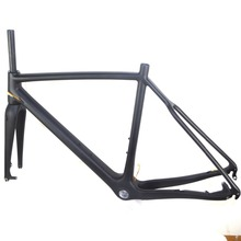 Buy free 700C cyclocross carbon frame disc brake carbon frame cx carbon frame qr axle internal cable ruting Di2 frame for $575.00 in AliExpress store