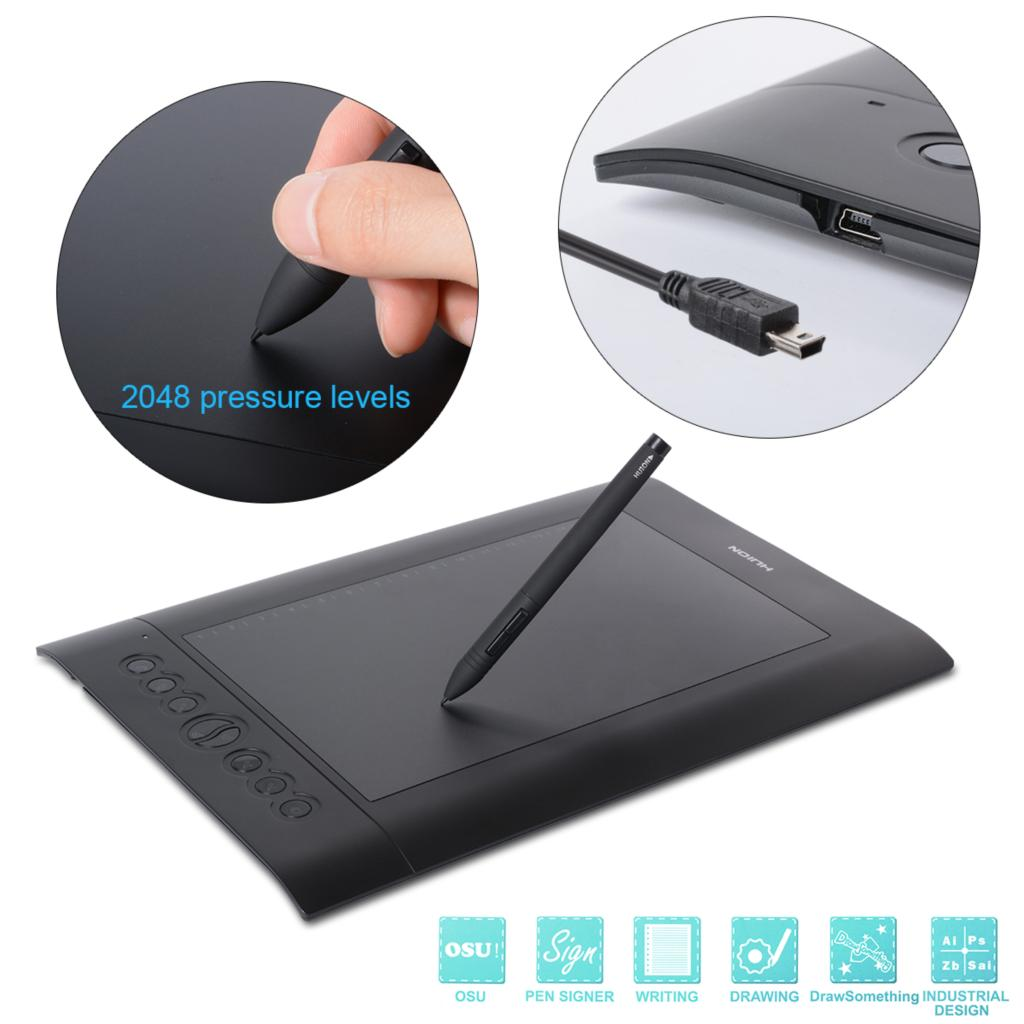HUION H610 Pro Graphics Drawing Tablet + Cordless Pen