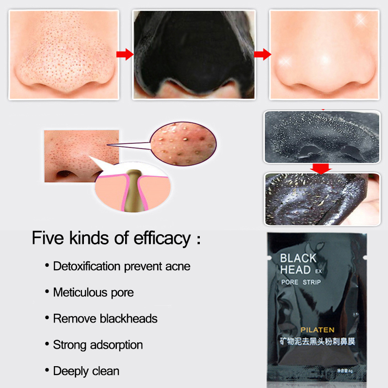 All Natural Charcoal Blackhead Mask Made With 2: Buy 2pcs Activated Charcoal Pore Acne Cleansing Face