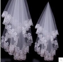 Best 2017 Selling long Lace Appliques 1.2 Meter Length chapel veils Accessories Wedding birdcage and hair(China (Mainland))