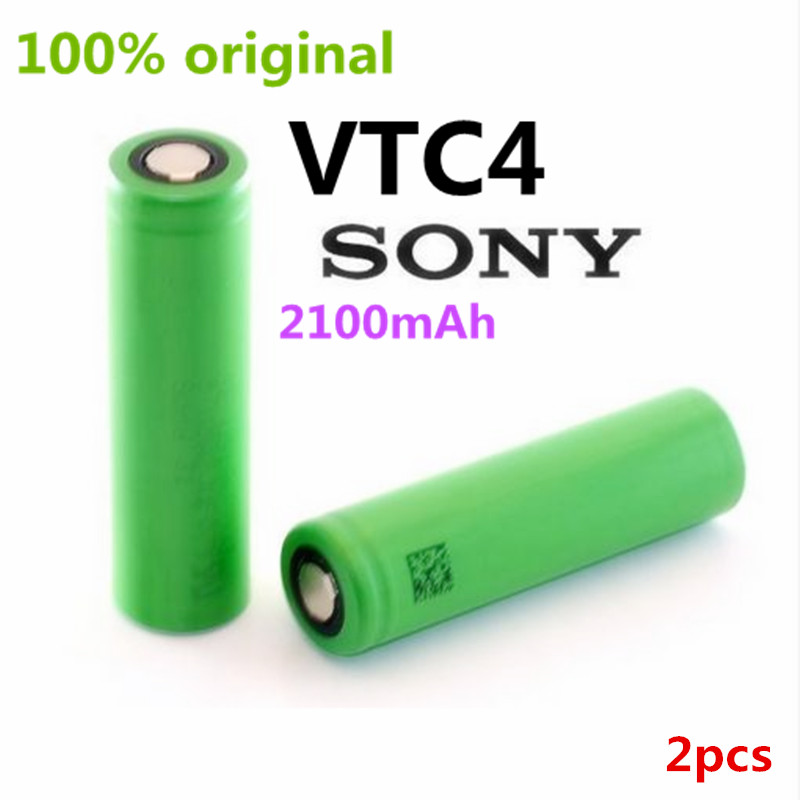 2PCS New Original for Sony US18650 VTC4 2100mAh 18650 3.6V lithium battery electric vehicle charging electronic cigarette(China (Mainland))