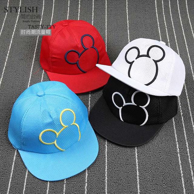 Микки паттен ребенок крышки Snapback малыш хип-хоп крышка для мальчика Hat для девочек зажигания для детей бейсбол шляпы ребенка Snapback