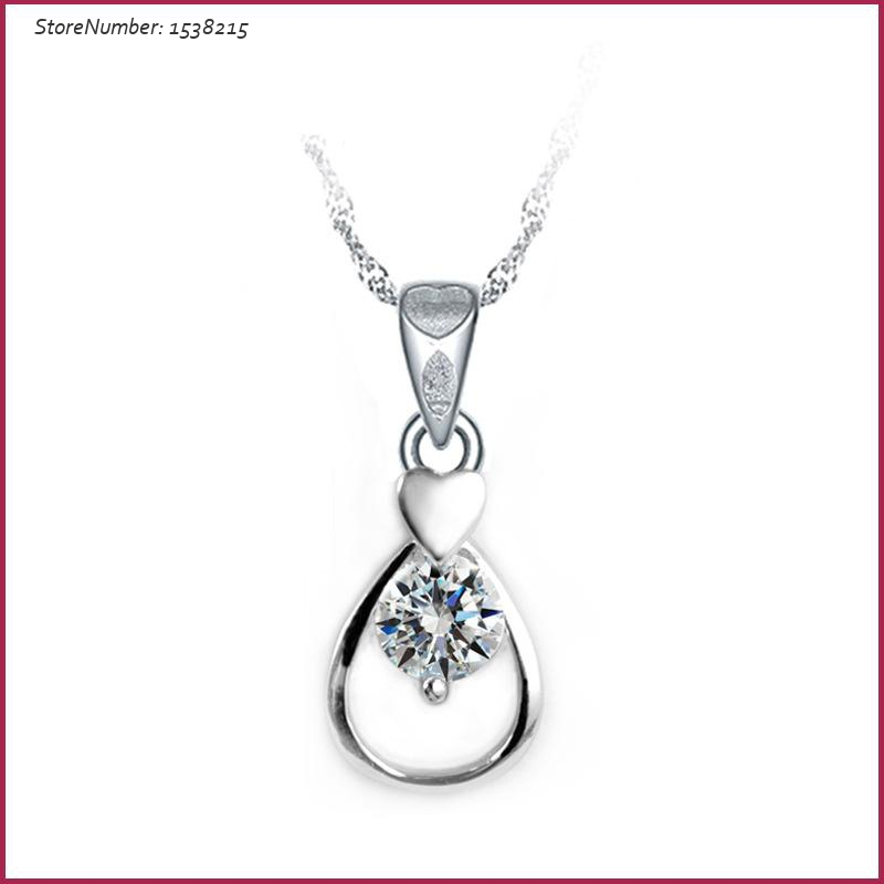 Fashion New Silver Charm Tear Drop Pendant Jewelry Accessories Free Shipping Luxury Women Jewelry(China (Mainland))