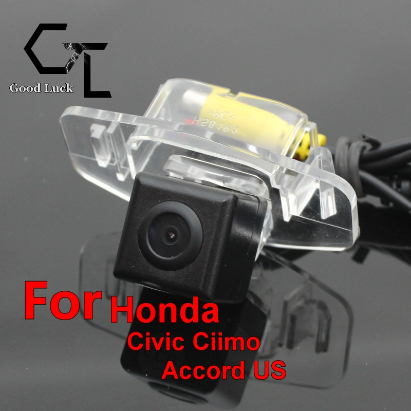 For Honda Civic Ciimo Accord US 2013 ~ 2015 wireless Waterproof HD CCD Night Vision Car Rear View Camera Parking Assistance(China (Mainland))