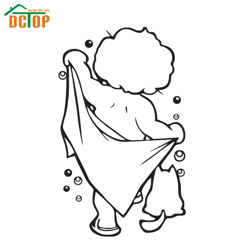 Take A Bath Baby Wall Stickers Waterproof Bathroom Tile Wall Decals Home Decor Adhesive Vinyl Stickers(China (Mainland))