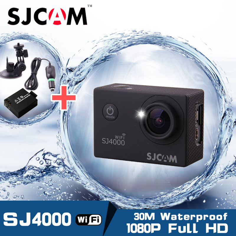 [Spain Stock] Original! SJCAM SJ4000 WiFi 1080P Full HD Extreme Sport DV Action Camera Diving 30M Waterproof Gopro Stytle Camera(China (Mainland))