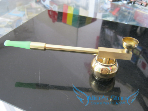 ST108 coppery  Smoking Water Pipe cigarette holder brass cigarette water filter 2use gift Free shipping 5pcs/lot