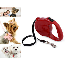 5m Retractable Pet Leash Lead One-handed Lock Training Lead Puppy Walking nylon Leash Adjustable Dog Collar for Dogs Cats(China (Mainland))