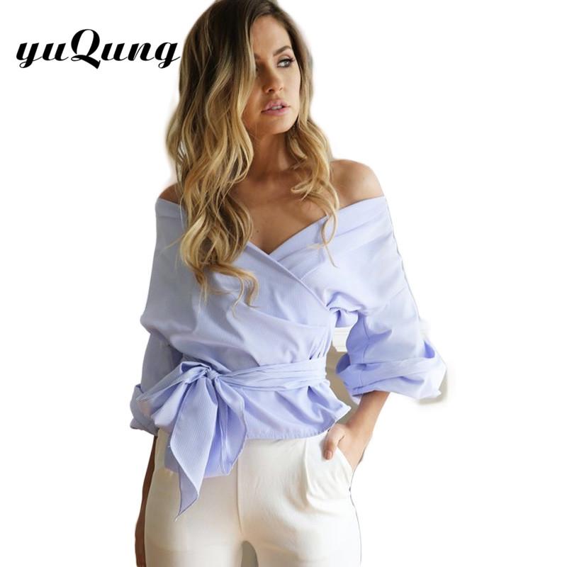 Autumn v neck blouse lace up lantern sleeve tee shirt short puff sleeve white blouse tops women work wear Blusas Feminina(China (Mainland))