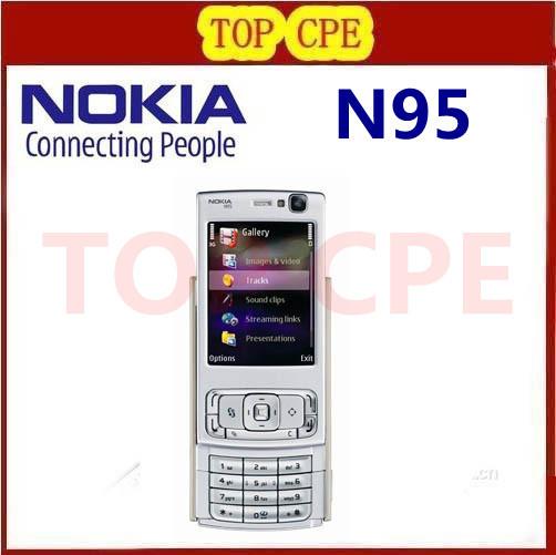 N95 Original Nokia N95 WIFI GPS 5MP 2.6''Screen WIFI 3G Unlocked Refurbished Mobile Phone FREE SHIPPING 1 Year Warranty In Stock(China (Mainland))