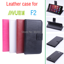 Hot Sale Jiayu F2 Case Luxury PU Leather Case for Jiayu F2 With Stand Function and 2 Card Slots Black White Pink Brown Color