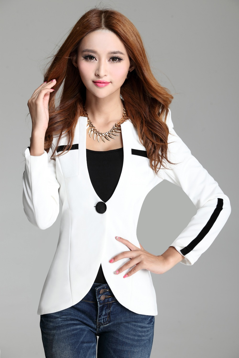 Suit Jacket Styles Picture - More Detailed Picture About Latest Fashion Suit Jacket Women 2014 ...