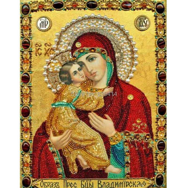 Red Icon Mother 5D Full Square Diamond Painting DIY Embroidery Needlework War Decora Cross Stitch Sets - Online Store 839414 store