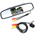 Auto Parking Assistance System 2 in 1 4 3 Digital TFT LCD Mirror Car Parking Monitor