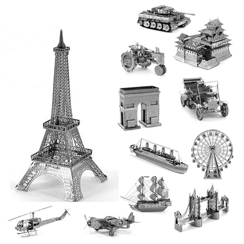 3D Jigsaw Puzzles for Kids 3D metal DIY Scale Model Building Architecture Educational Toys Kids Toys for Toddlers<br><br>Aliexpress