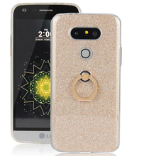 """Buy G5 LG G5 Case Ring Holder Slim Dual TPU Soft Pink Shiny Glitter Cover Case LG G5 SE H868 H830 F700S Shell 5.3"""" for $2.99 in AliExpress store"""