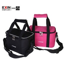 Hot! 2015 thermo lunch bag cooler insulated lunch bags for women kids thermal bag lunchbox food picinic bag handbag black pink