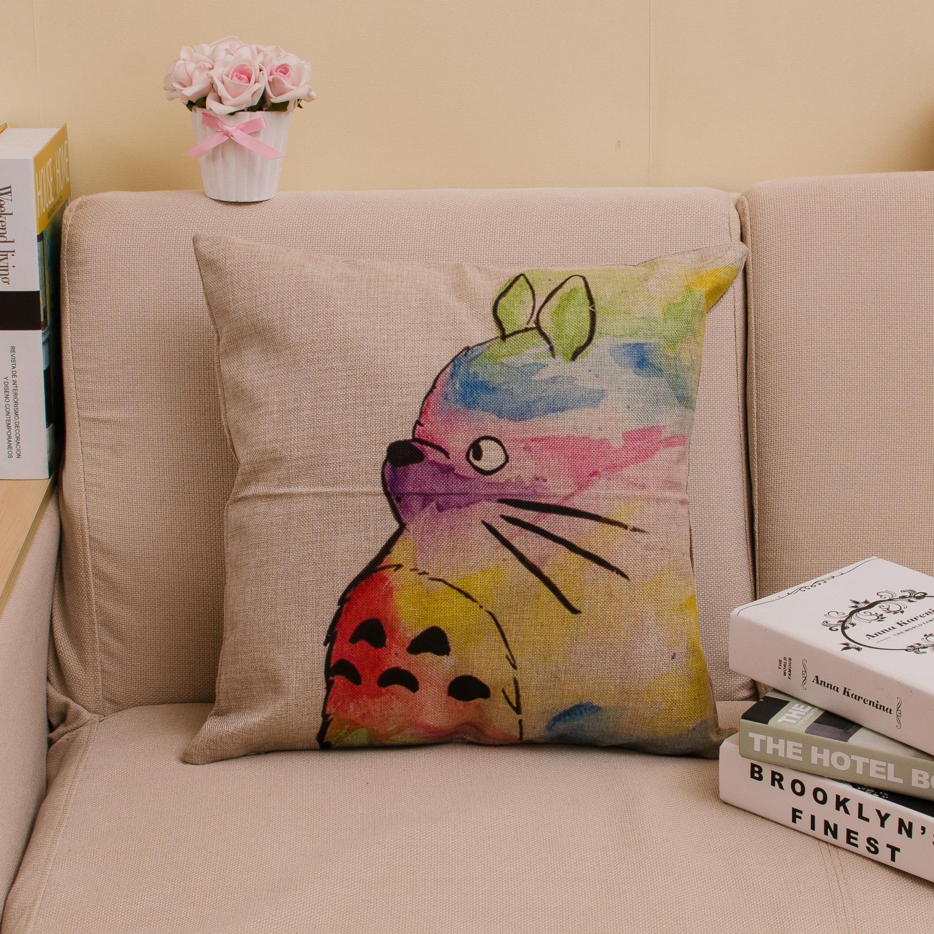 Scandinavian Coussin Cuscini 18 X 18 Living Room Sofa Cushion Anime Totoro Elephant Cat ...