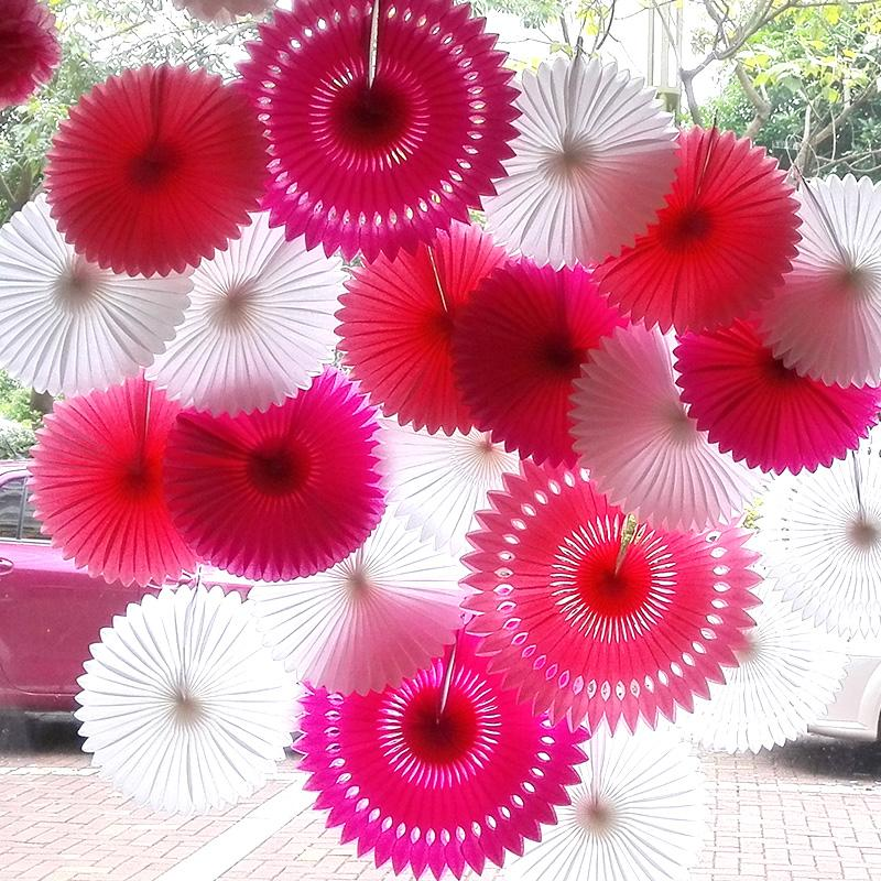 "6pcs/Lot 12"" (30cm) Honeycomb Snowflake Paper flwoers Tissue Paper Fan Crafts for birthday wedding Decoration,Free shipping,(China (Mainland))"