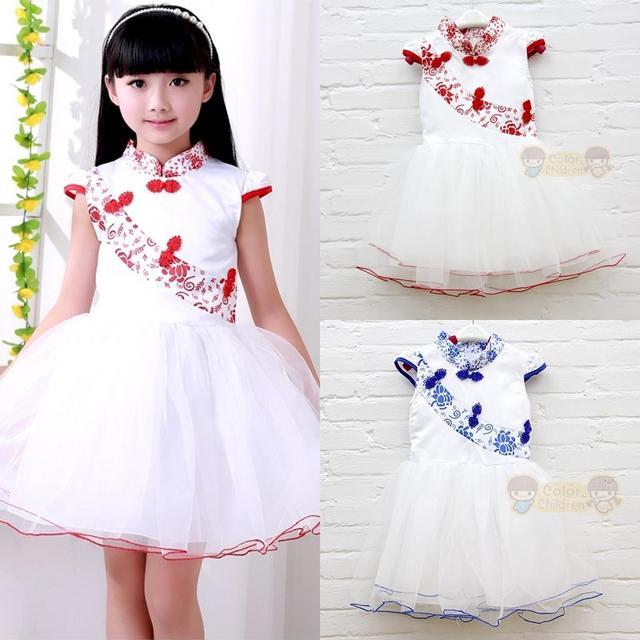 Лето девочки платье дети в девочка шифон платья дети девочка цветок платья