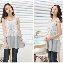 Cotton Breastfeeding T shirt Maternity Nursing Tanks Clothes Pregnant Premama Lace Lactaion Tops Fashion Mothers Feeding T-shirt(China (Mainland))