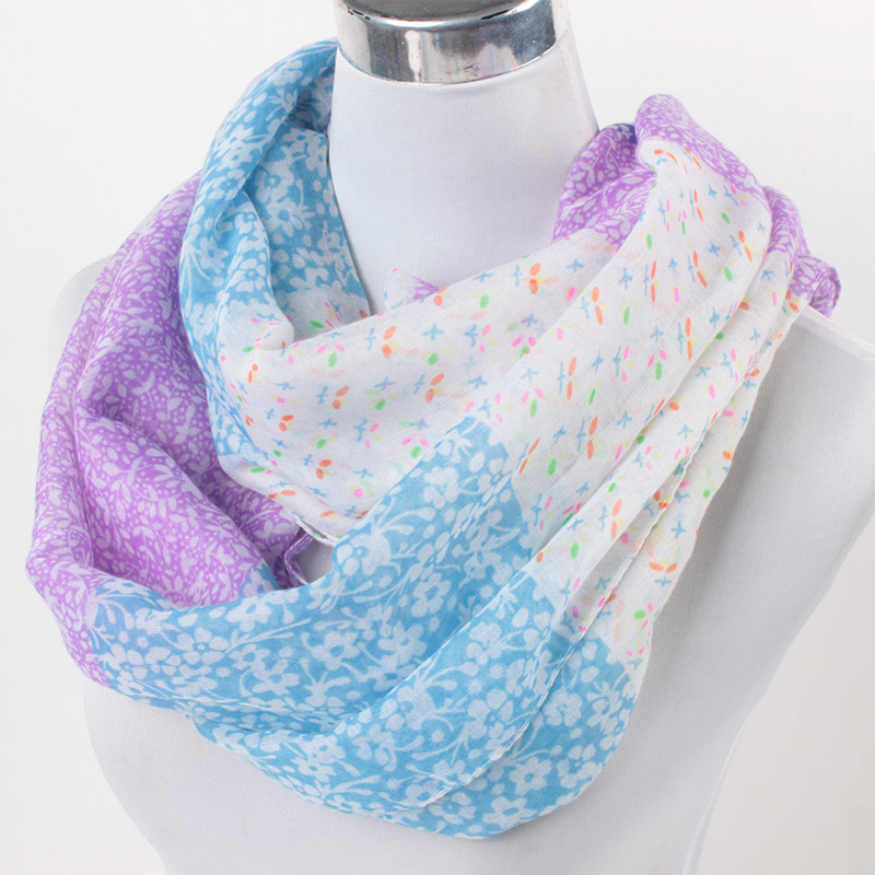 freeship Small flower printed loop scarf countryside wind ladies viscose shawl scarf women infinity scarf gift flower 90*180cm(China (Mainland))