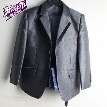 Male child formal dress 2013 children's clothing boys slim suit kids blazer suit set 6 piece set