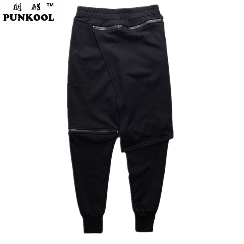 PUNKOOL 2016 New Yeezys Men Legging Pants Two-piece Joggers Men Hip-hop Pants Hiphop Pantalones Men joggers Pant Costumes(China (Mainland))