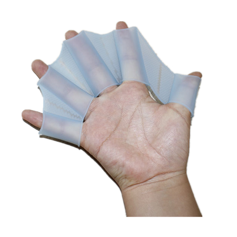 Soft Silicone Swimming Fins Flippers Frog Hand Swim Web Webbed Glove Multi Size Training Paddle Dive Useful 1 pair(China (Mainland))