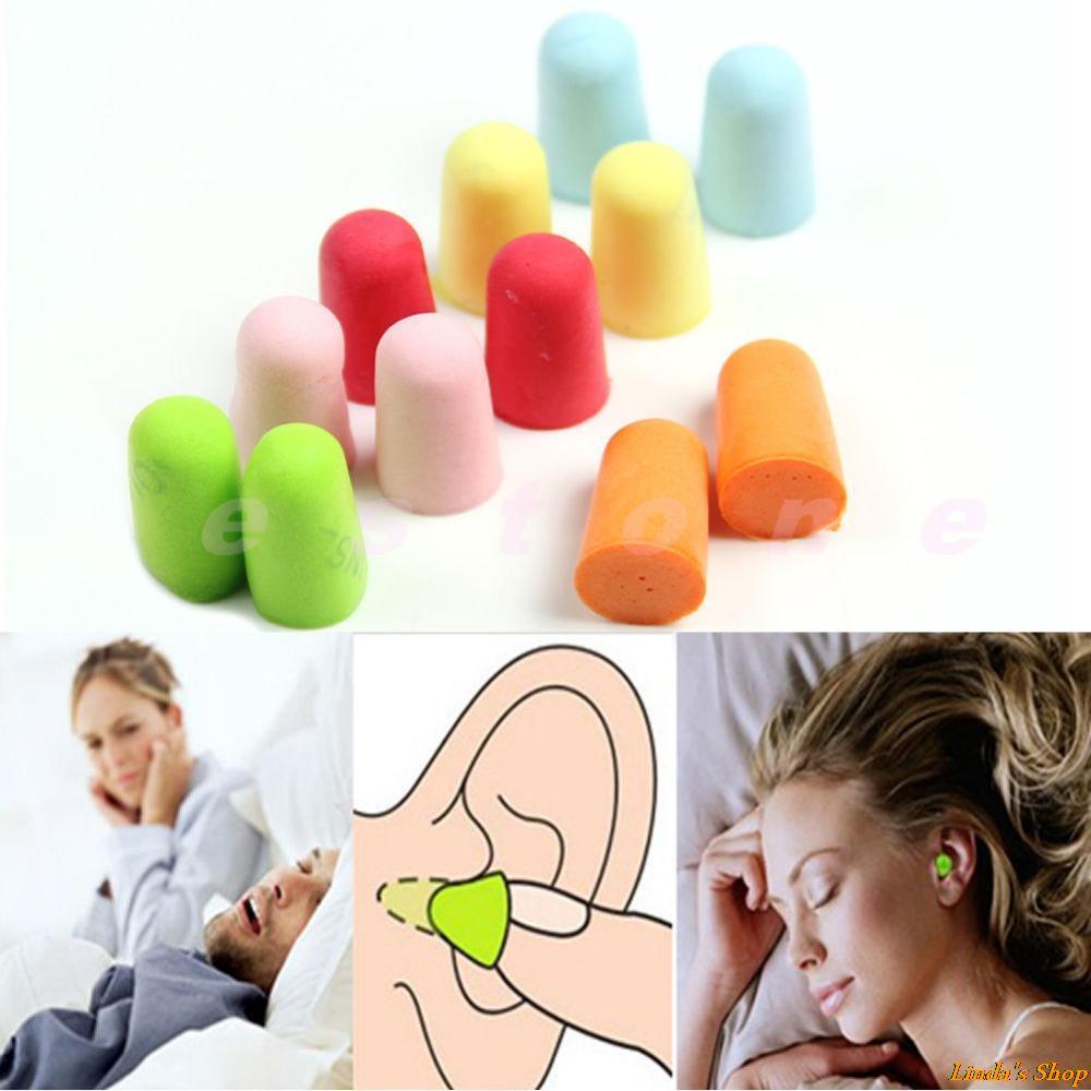 Гаджет  50 Pairs/lot Protector Travel Sleep Noise Reducer Soft Foam Earplug Ear Plug New Free Shipping None Безопасность и защита