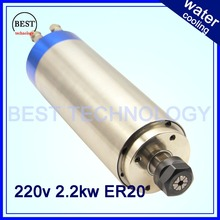 2.2KW ER20 cnc spindle rpm 24000 machine spindle motor water colling  engraving milling spindle 220v AC 80x225mm  4pcs bearings(China (Mainland))