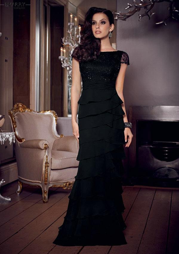 Zz313 элегантный коротким рукавом тнак платье-линии мать невесты платья 2016 длиной до пола аппликации мать невесты платья