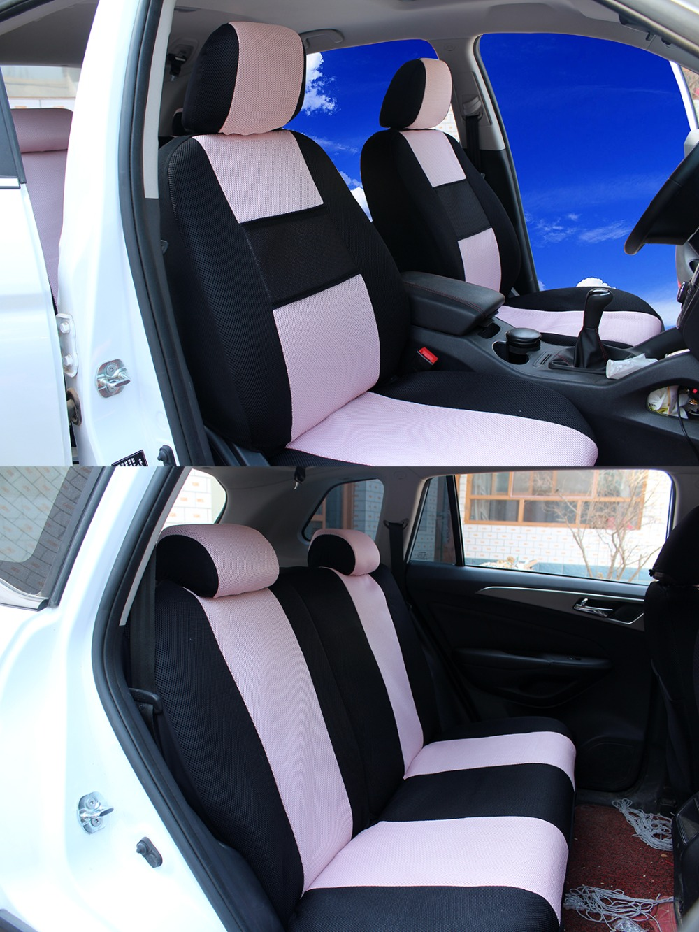 2 front seats universal car seat covers for toyota corolla camry rav4 vitz auris prius yaris. Black Bedroom Furniture Sets. Home Design Ideas