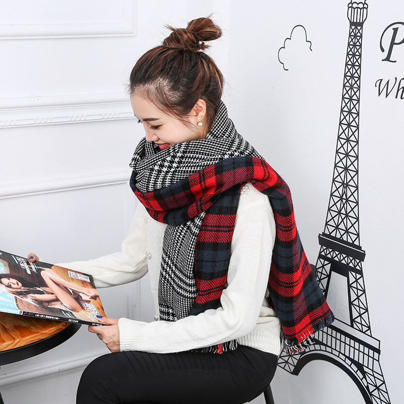 British Style Plaid Winter Scarf Luxury Brand Ladies Scarves Echarpes Foulards Femme Shawls and Hijibs 190*65cm Long Scarves