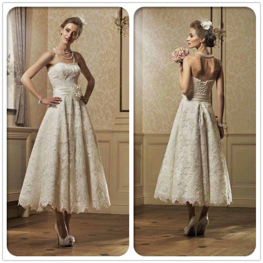 Buy free shipping cw956 high quality for Ivory vintage lace wedding dress