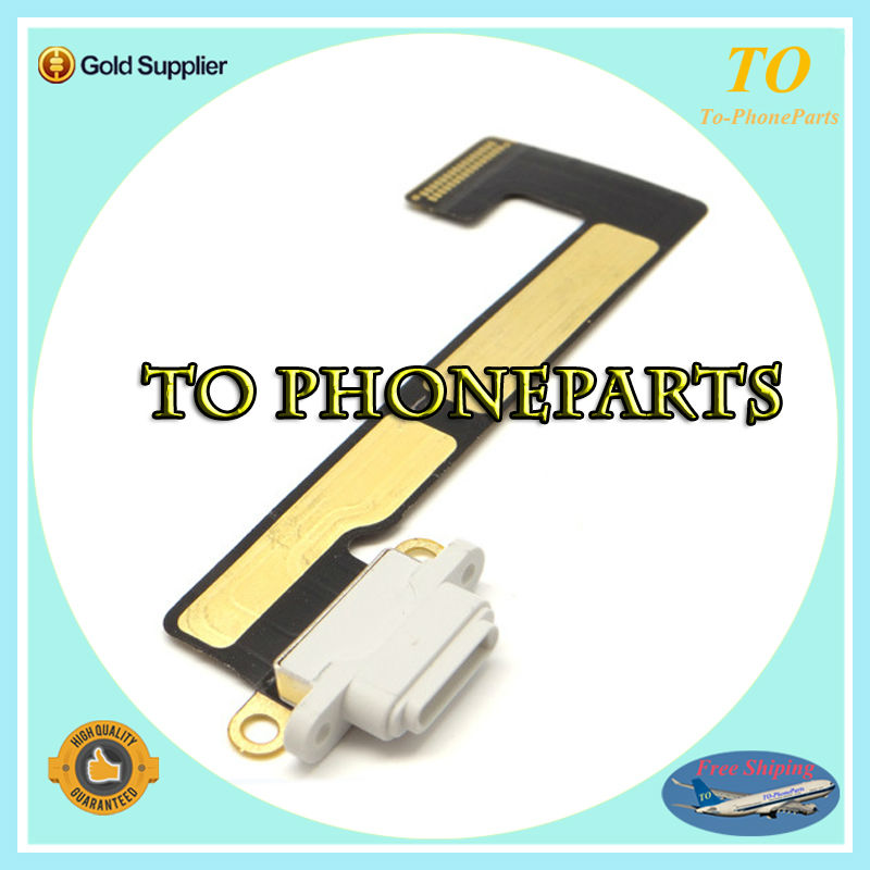 10 pcs / lot Free shipping USB Charging Dock Connector Charging Port Flex cable Ribbon For ipad mini 2 3 2nd 3rd Replacement(China (Mainland))