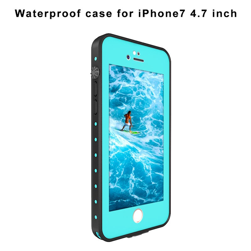 "Redpepper Water Case For iPhone 7 4,7 ""/ 7 plus 7 Plus 5,5"" Submerge Underwater Cover Hard PC + TPU Hybrid Armor Case AntiShock"