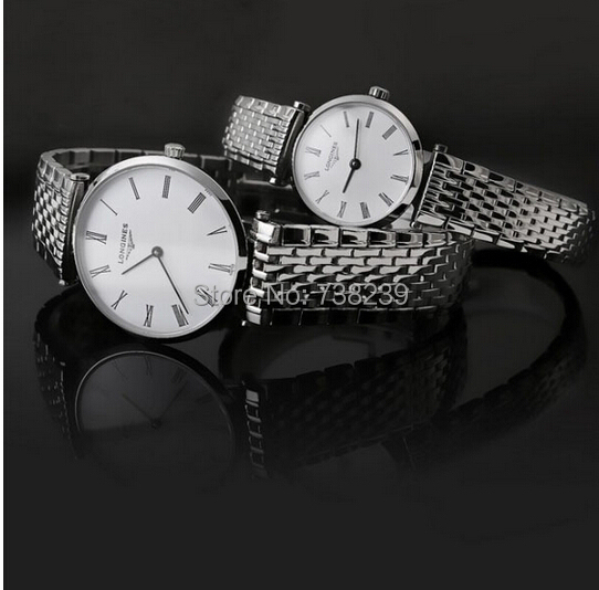 2015 New High-end Fashion Sapphire Glass Surface Couples Quartz Watch Ultra-thin Surface Female Watch Free Shipping(1pcs)(China (Mainland))