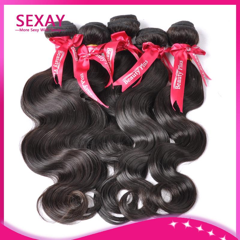 Cheap Brazilian Hair 4 pcs Lot Free Shipping,7A Grade Remy Brazilian Human Hair Body Wave Wet And Wavy,Hair Color Natural Black(China (Mainland))