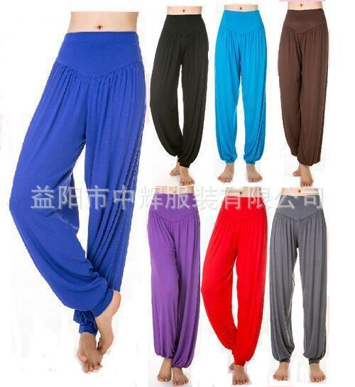2015 Rushed Girls Cotton Ropa Deportiva Mujer The New Summer Yoga Clothes Pants Size Sports Female Fitness For Square Dance A09(China (Mainland))